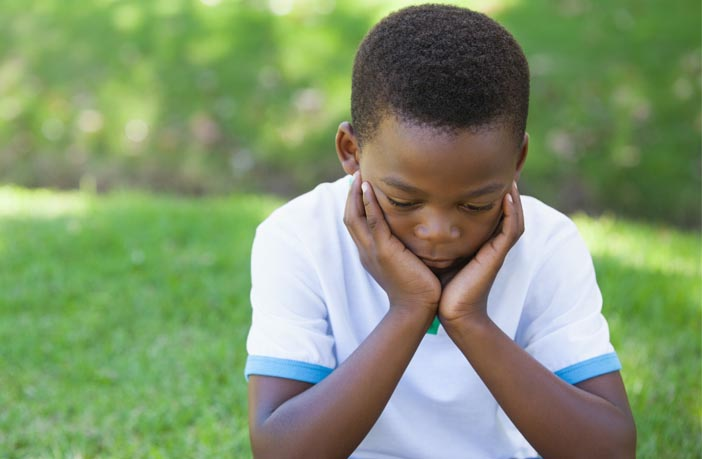 Developing in children the ability to handle personal crisis or loss